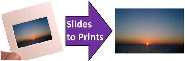 Convert slides to prints